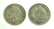 pci3541) MONNAIE 20 CENT ARGENT NAPOLEON III 1867 A