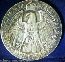 German States PRUSSIA 3 Mark KM# 531. Wilhelm III / imperial eagle.GERMANY