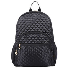 "Quilted Laptop Backpack Bookbag fits15"" Laptop Ipad Netbook Macbook Tablet"