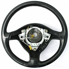 VW Golf MK4 (99-04) Black Leather Steering Wheel - 3 Spoke 1J0 419 091 AE