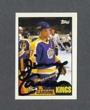 Jimmy Carson signed Los Angeles Kings 1987-88 Topps rookie hockey card