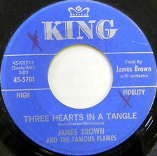 JAMES BROWN & THE FAMOUS FLAMES 45 Three Hearts In a Triangle KING Soul #C1048