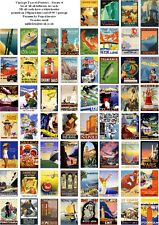 VINTAGE TRAVEL POSTERS SERIES 4  -60 ALL DIFFERENT A6 ART CARDS