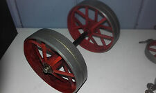 MAMOD TRACTION ENGINE (TE1 ETC)SPARE PART(2 X BACK WHEEL + AXLE & CAPS)