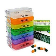 Plastik 7 Tage Pillendose Pillenbox Tablettendose Tablettenbox Medikamentenbox