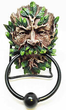 Forest Greenman Door Knock Knocker.w/ Metal Ring.Home Decorative.Green Man 8759