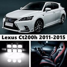 10pcs LED Xenon White Light Interior Package Kit for Lexus Ct200h 2011-2015