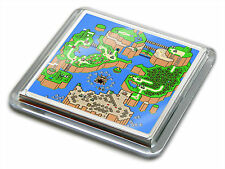 SUPER MARIO WORLD MAP SNES Video Game Novelty Gift Quality Drink Mug Coaster