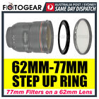 Step Up Ring 62-77mm Filter Lens Adapter 62mm-77mm AUSPOST