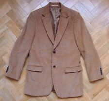 Fabulous Farah soft cotton corduroy camel tan brown blazer jacket BNWOT 40 R
