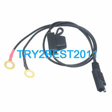 BATTERY TENDER QUICK CONNECT CABLE W/ SAE 2 PIN RING TERMINAL HARNESS DELTRAN