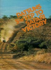 Nissan Datsun Safari Rally Success 1973 UK Market Sales Brochure 240Z Bluebird
