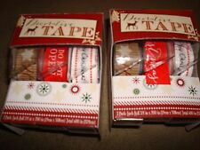 CHRISTMAS DECORATIVE TAPE LOT OF 2