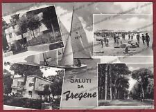 ROMA FIUMICINO 11 FREGENE SALUTI da... Cartolina FOTOGRAFICA viaggiata 1970