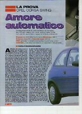 W14 Ritaglio Clipping 1994 Prova Test Opel Corsa Swing