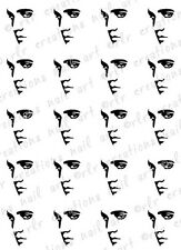 20 NAIL DECALS *ELVIS SILHOUETTE* WATER SLIDE NAIL DECALS NAIL ART