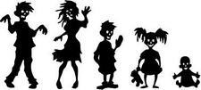 "Zombie Family Vinyl Decal ""Sticker"" For Car or Truck Windows, Laptops, etc"
