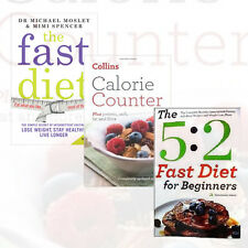 Diet Collection Health/Fitness 3 Books Set The Fast Diet,Calorie Counter