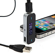 Curious Wireless Car Lcd Display Fm Transmitter 3.5Mm Wire For iPhone 4 5 6 iPod