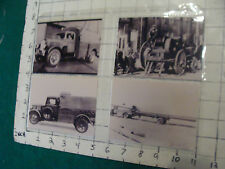 vintage AT&T Photo: 4 smaller TRUCK PHOTOS, all  repro