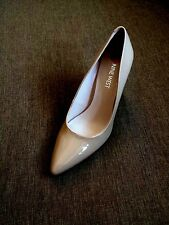 New Nine West High Heel Dress Pumps Patent Leather Women's Shoes Size 6 M Nude
