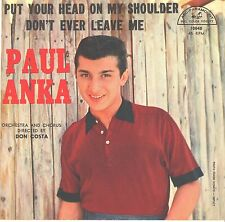 PAUL ANKA--PICTURE SLEEVE ONLY--(PUT YOUR HEAD ON MY SHOULDER)--PS--PIC--SLV