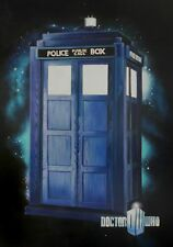 Dr Who Tardis Oil Painting 28x16 NOT print / poster Framing Avail. Dalek Cyber