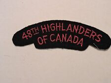INSIGNE BADGE COMMONWEALTH  48TH HIGHLANDERS OF CANADA