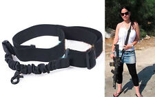 Hunting Tactical 1 Single Point Adjustable Bungee Rifle Gun Sling System Strap