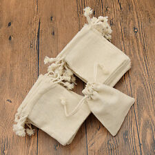 30 Pcs Mini Burlap Natural Linen Jute Sack Drawstring Gift Bags Jewelry Pouch