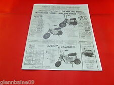 New listing WOW! Vintage & Rare SCAT CAT MINIBIKE GO KART 3 WHEELER  4 PAGES