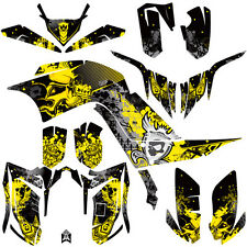 DFR FOLD GRAPHIC KIT YELLOW FULL WRAP 06-08 YAMAHA RAPTOR RAPTOR700 700
