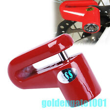Red Motorcycle Bicycle Security Rotor Safety Disc Brake Wheel Lock For Suzuki GG
