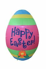 4 Foot Tall LED Air Blown Inflatable Colorful Giant Easter Egg Yard Decoration
