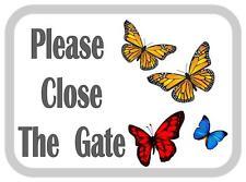 Si prega di chiudere il cancello Farfalla Design in Metallo Porta Firmare