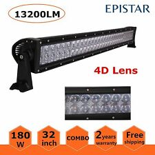 32inch 180W LED Work Light Bar Flood Spot Combo Offroad SUV Jeep Boat 4D Lens