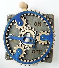Green Tree Jewelry Single Planetary Grey Blue Wood Light Switch Plate Cover