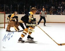 Add #4 Bobby ORR SKATES Up ICE w/ Gerry CHEEVERS SIGNED Bruins 11X14 JSA COA WOW