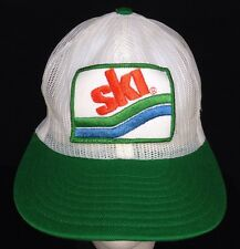 "Vintage Trucker Hat ""SKI"" Patch Full Mesh Snap Back Retro 70's 80's"