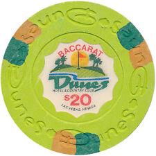 Vintage Dunes Obsolete Casino $20 House Mold 80s Baccarat Paulson Chip Las Vegas
