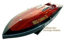 "Miss Canada IV, World Record Contender 1949, Magnificent 34"" Wooden Model, built"