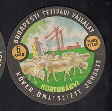 Ancienne  étiquette Fromage  Hongrie  BN10347 Berge Mouton 4