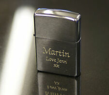 Personalised Engraved Brushed Chrome Zippo Lighter Men's Christmas Gift