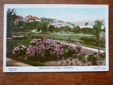 Lot29g QUEEN MARY Gardens FALMOUTH Lilywhite FMH 75 Postcard