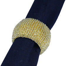 6 GOLD BEADED ROUND NAPKIN RINGS, Have 100's Available for Events