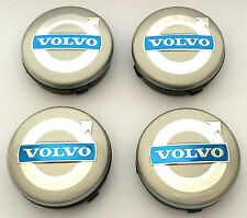 4 VOLVO Grey Badge 64mm Alloy Wheel Center Caps C70 S40 V50 S60 V60 V70 S80 XC90