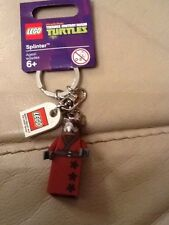 LEGO Teenage Mutant Ninja Turtles Splinter KEYCHAIN PORTACHIAVI 850838-NUOVISSIMO
