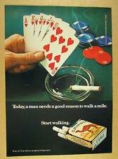 1971 royal flush poker hand cards chips photo Camel Cigarettes vintage print Ad