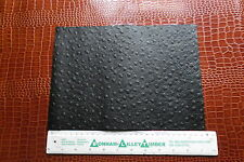 BLACK LEATHER ODDMENT WITH OSTRICH EMBOSSING 1.2 mm