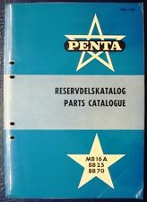 PENTA MB16A BB25 BB70 MARINE ENGINE SPARE PARTS LIST CATALOGUE 1957 VOLVO